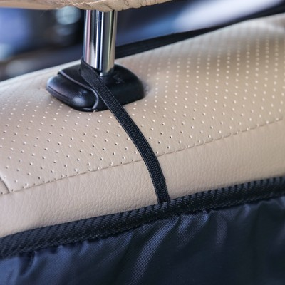 Защитная накидка-незапинайка на спинку сиденья, трёхслойная, 55х40 см, цвет чёрный