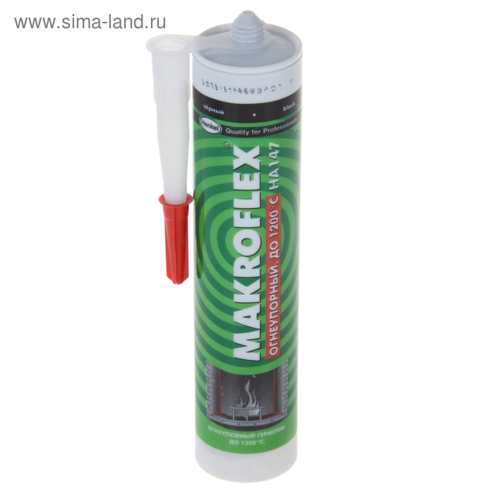 Герметик силикатный Makroflex НА147, огнеупорный, чёрный, 0,3 л