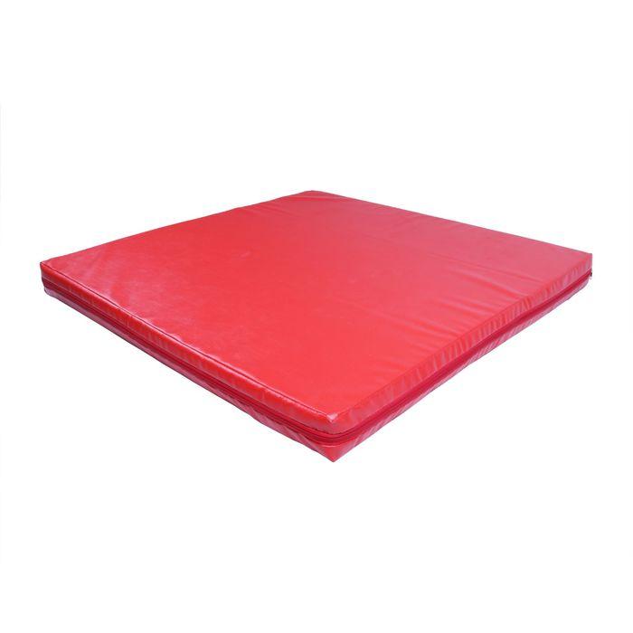Мат гимнастический 1000х1000х80 мм, цвет микс