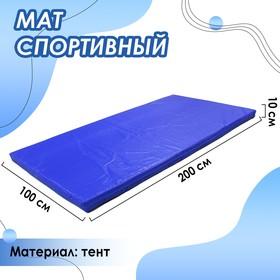 Мат 200 х 100 х 10 см, тент, цвет синий