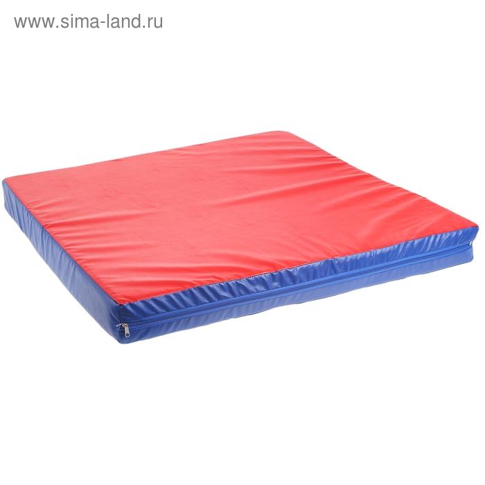 Мат гимнастический 1000х1000х100 мм., цвет микс