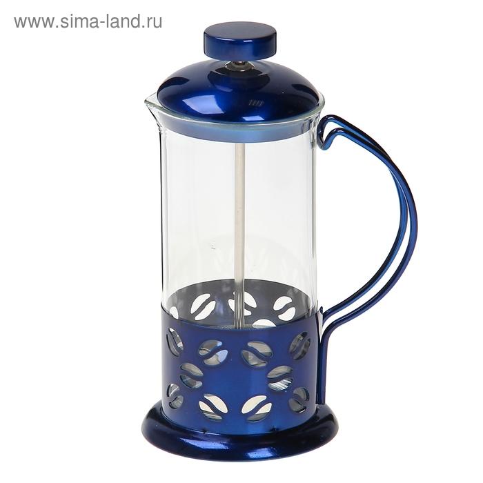 """Френч-пресс 350 мл """"Зерна"""", синий"""