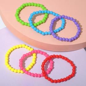 "A set of children's bracelets ""Vibracula"" beads, 6 strands, color"