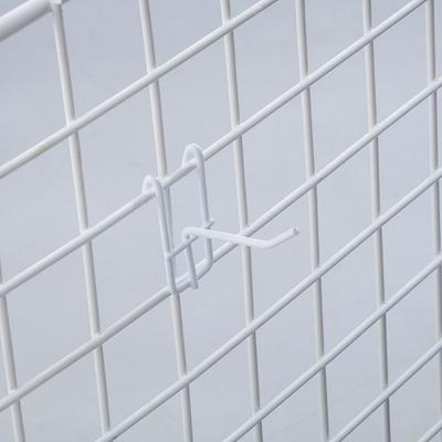 Крючок на сетку одинарный L=5, d=3.5мм, цвет белый