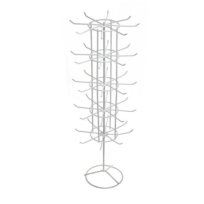 Вертушка, 5 ярусов по 8 крючков, 20*20*61, цвет белый