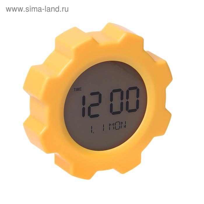 Часы-будильник на магните, оранжевый