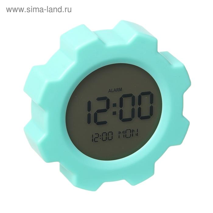 Часы-будильник на магните, бирюзовый