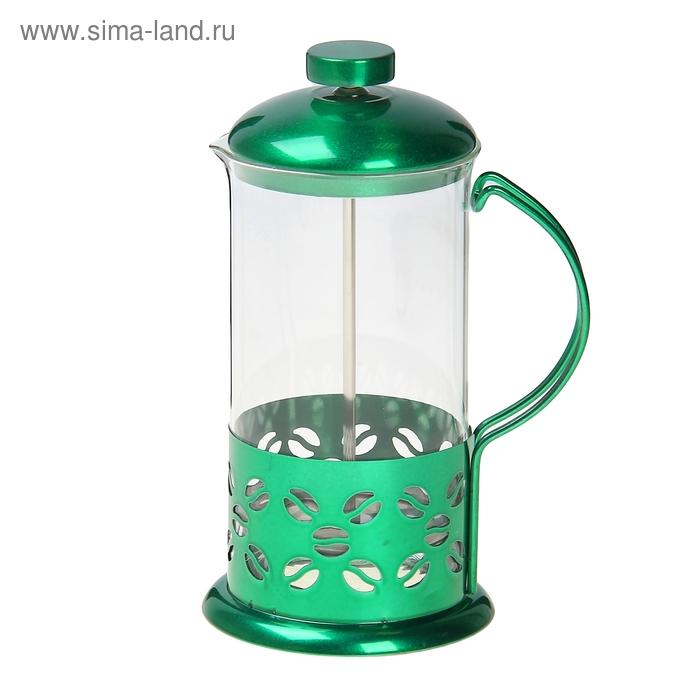 """Френч-пресс 600 мл """"Зерна"""", зеленый"""