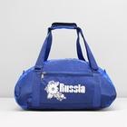 Сумка спортивная, 1 отдел, наружный карман, цвет сине-голубой
