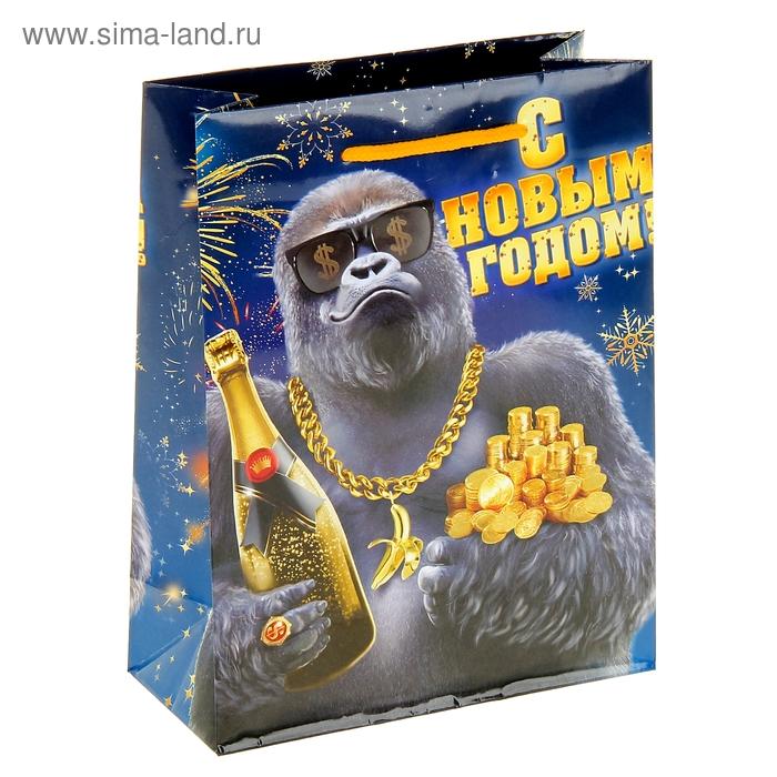 """Пакет ламинат вертикальный """"Крутая обезьянка """", 23 х27 см, 160 г/м2"""