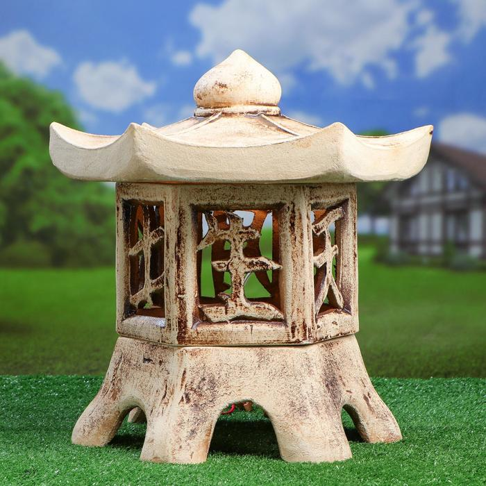 Садовый светильник ''Пагода'' шамот