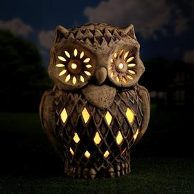 Садовый светильник ''Сова Филя'', шамот, 59 см, без элемента питания