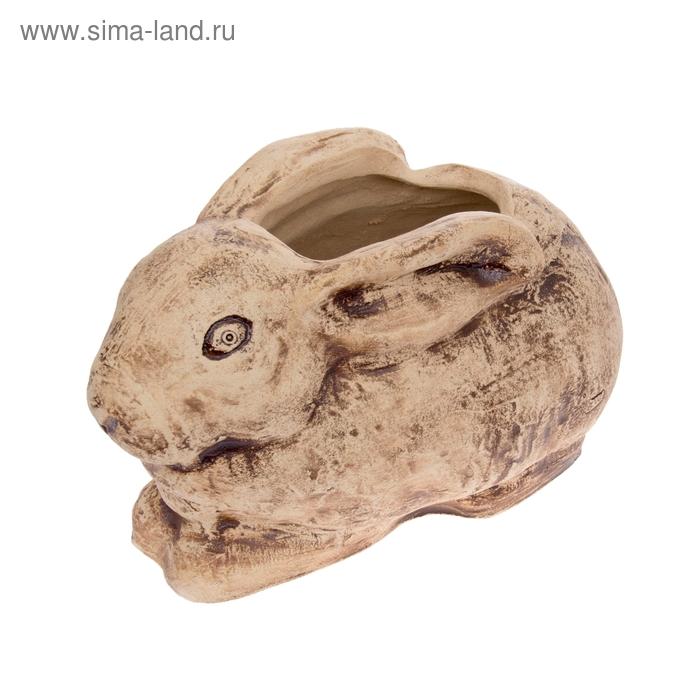 """Фигурное кашпо """"Кролик"""" шамот"""