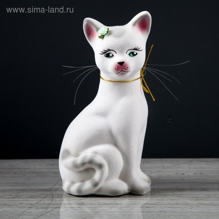 """Копилка """"Кошка Лиза"""" большая, белая"""