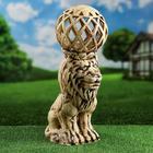 Садовый светильник ''Лев'', шамот, 52 см, без элемента питания - фото 1599590