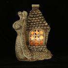 Садовый светильник ''Улитка с домиком'' шамот