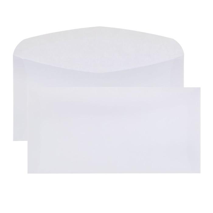 Конверт почтовый Е65 110х220мм чистый, без окна, клей, без внутренней запечатки, клапан-автомат, 80г/м, упаковка 1000шт