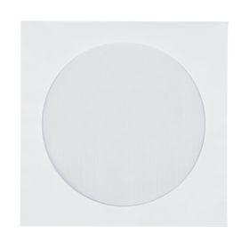 Конверт почтовый для CD/DVD 125х125мм чистый, окно д=100, силиконовая лента, 80г/м, упаковка 1000шт Ош