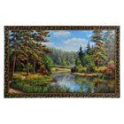 """Картина """"Сосны у лесной реки"""""""