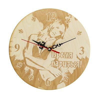 """Часы банные """"Время париться!"""" ангел, Ø25 см"""