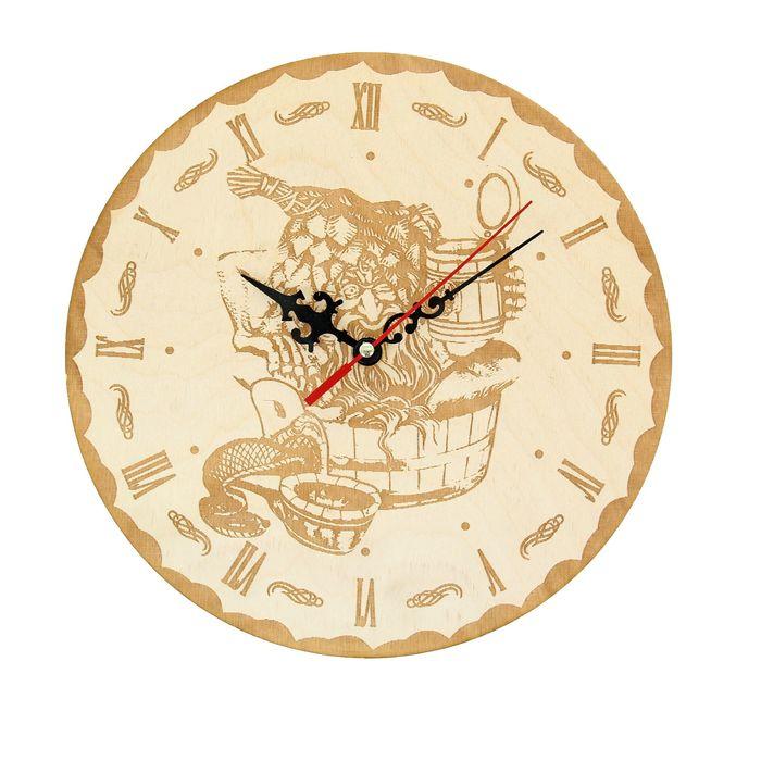 """Часы банные """"Дедка в баньке!"""", Ø25 см"""