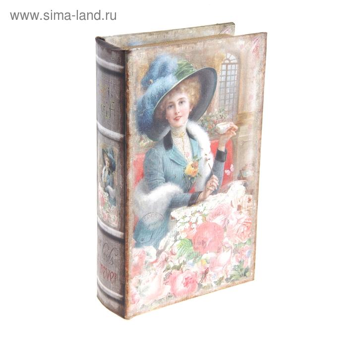 """Ключница-книга """"Девушка в розах"""""""