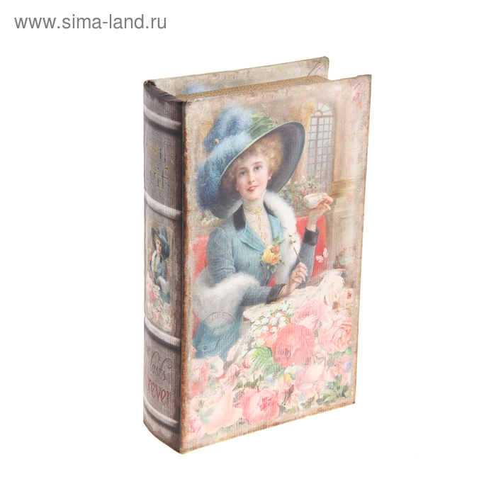 """Шкатулка-книга """"Девушка в розах"""""""