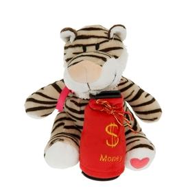 Мягкая игрушка-копилка музыкальная 'Тигр с бантиком' Ош