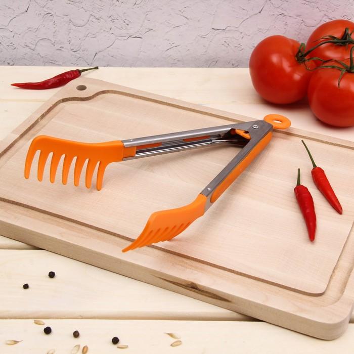 Щипцы для спагетти «Пикник», 23 см, цвет МИКС - фото 308018787