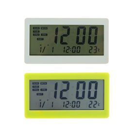 Часы электронные, будильник, температура, пластик, микс Ош