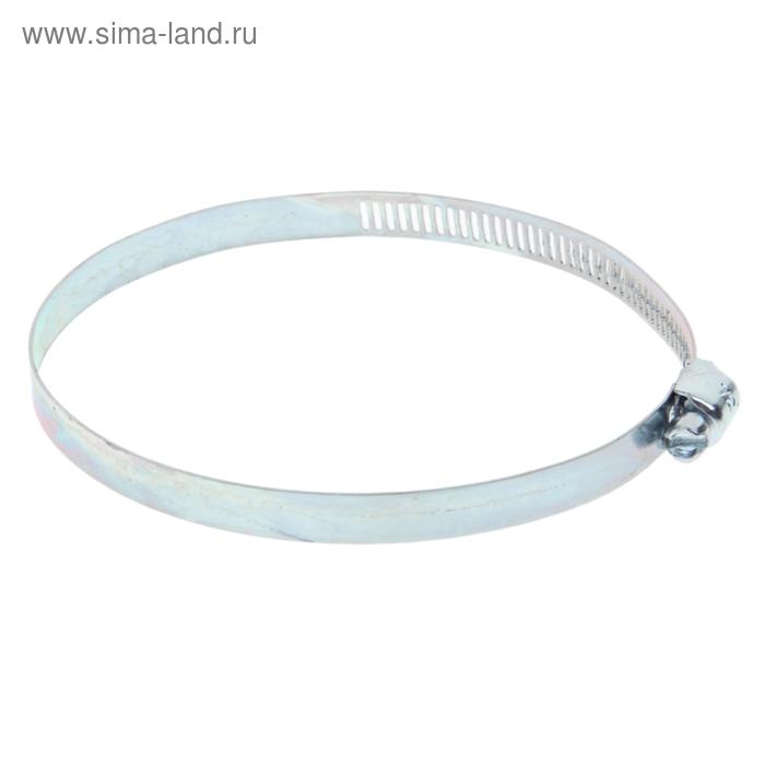 Хомут оцинкованный TUNDRA krep, сквозная просечка, ширина 12.7 мм, диаметр 72-95 мм