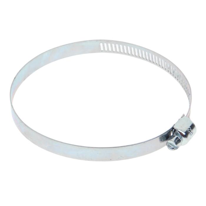 Хомут оцинкованный TUNDRA krep, сквозная просечка, диаметр 58-82 мм, ширина 12.7 мм