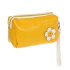 """Косметичка-ассорти """"Цветик"""", 1 отдел, ручка, цвет жёлтый"""