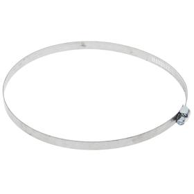 Хомут оцинкованный TUNDRA krep, сквозная просечка, диаметр 118-140 мм, ширина 12.7 мм Ош