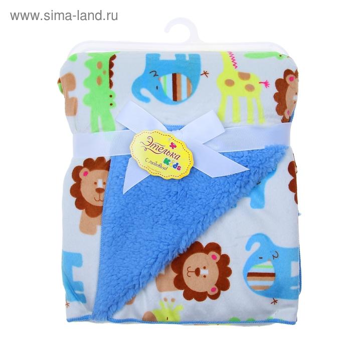 """Детский плед-одеяло """"Этелька"""" Джунгли 76*102 см, шенил, микрофибра"""