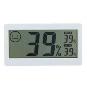 The electronic thermometer with hygrometer (DC206), battery-operated, plastic