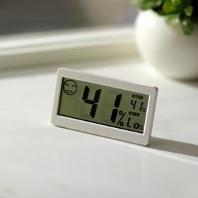 Термометр электронный с гигрометром (DC206), на батарейках, пластик Ош
