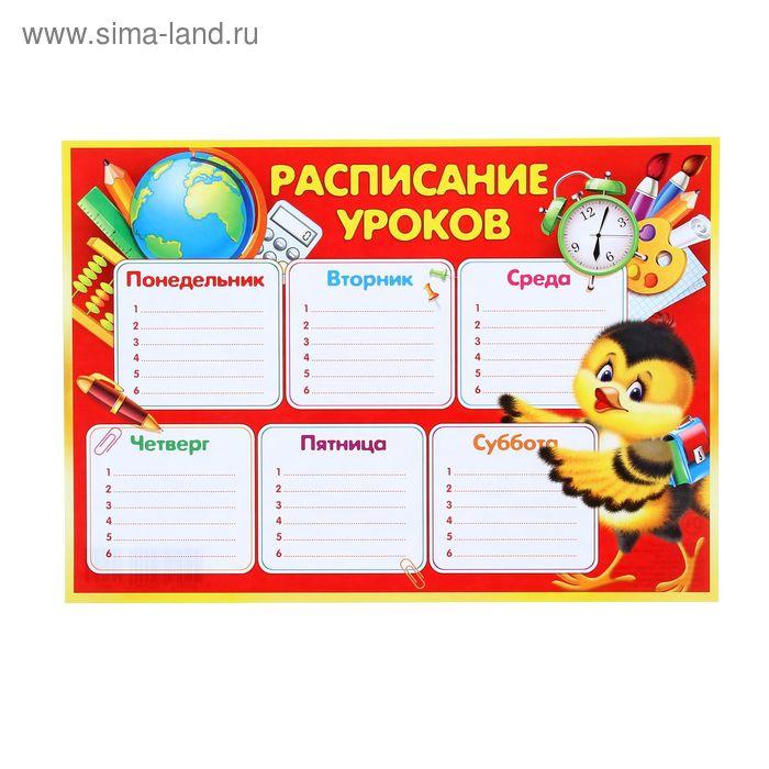 """Расписание уроков """"Птичка"""""""