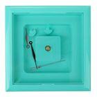 Часы-конструктор под нанесение, квадратные, бирюзовые, микс