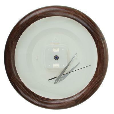 Часы-конструктор под нанесение круглые, темно-коричневые, 30х30 см