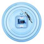 Часы-конструктор под нанесение, круглые, голубые