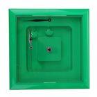 Часы-конструктор под нанесение, квадратные, зелёные
