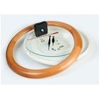 Часы-конструктор под нанесение, круглые, светло-коричневые