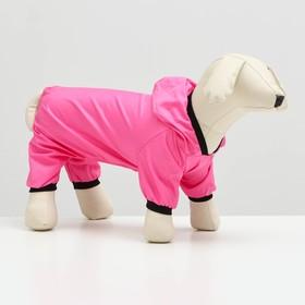 Jumpsuit for dogs, M (DS - 25 cm og - 34cm), pink