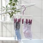 Сушилка для белья подвесная, 12 прищепок, цвет МИКС