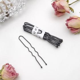 Шпильки для волос чёрные (набор 10 шт.) Ош