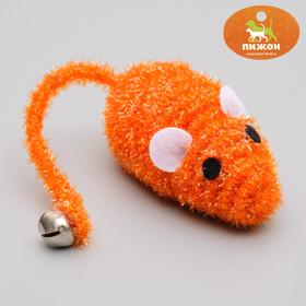 Мышь-погремушка 7 см, микс цветов