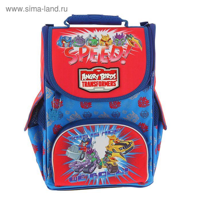 Ранец стандарт Angry Birds 36*24*13 Ultra Compact, для мальчика, раскладной, синий