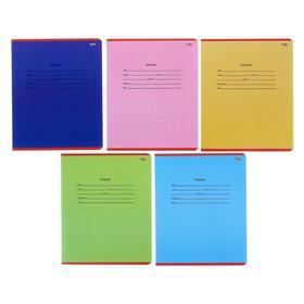 Тетрадь 12 листoв косая линейка 'Школьная классика', обложка картон хромэрзац, 5 видов МИКС Ош