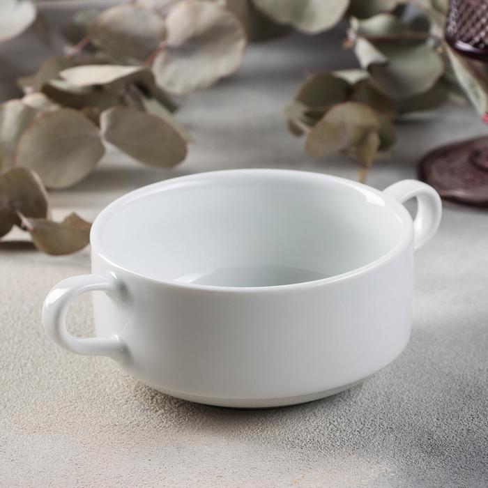 Чашка бульонная 320 мл, цвет белый